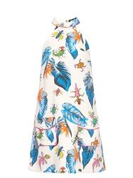 House Of Holland Insect Print Halterneck Dress