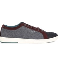 Ted Baker Minem Low Top Wool Finish Trainers Dark Red