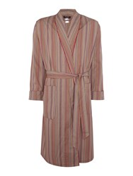 Paul Smith Lightweight Multi Colour Stripe Robe Multi Coloured