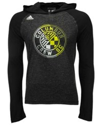Adidas Men's Long Sleeve Columbus Crew Sc Aerofade Hooded T Shirt Black