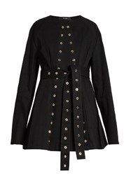 Ellery Femme Eyelet Embellished Denim Jacket Black