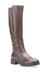 Geox Women's Peaceful Tall Boot Chestnut Leather