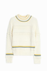 Paul And Joe Sister Cable Knit Crew Neck Sweater White