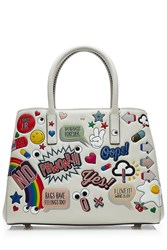 Anya Hindmarch Ebury Small All Over Stickers Leather Tote Multicolor