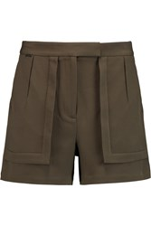 Halston Stretch Crepe Shorts Green
