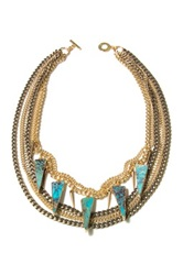 Janna Conner Lada Turquoise Howlite Statement Necklace No Color