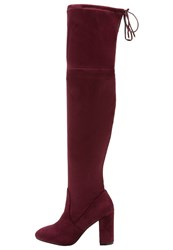 Dorothy Perkins Kassandra Overtheknee Boots Burgundy Dark Red