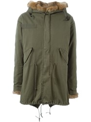 Liska Fur Lining Hooded Parka Green