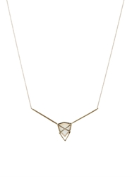 Monique Pean Diamond Thomsonite And White Gold Necklace