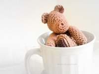 Crochet Chocolate Bear In A Cup Early Morning By Dualchocolate