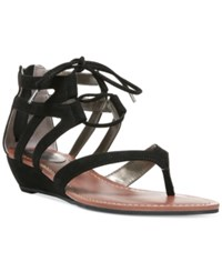 Carlos By Carlos Santana Lacey Lace Up Gladiator Wedge Sandals Women's Shoes Black