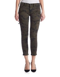 Hudson Jeans Colby Ankle Moto Skinny Cargo Pants Rustic Camo