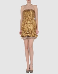 Roberta Furlanetto Short Dresses Gold