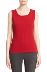 St. John Women's Collection Milano Knit Contour Shell Ruby