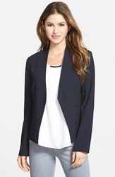 Ellen Tracy Two Tone Crepe Blazer Regular And Petite Navy