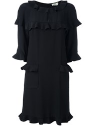 Fendi Frill Trim Dress Black
