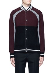 Givenchy Colourblock And Stripe Jacket Cardigan Multi Colour