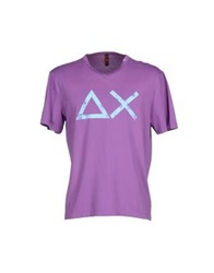 Sun 68 T Shirts Purple