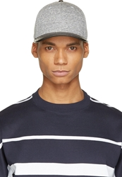 Rag And Bone Grey Leather Brim Cap