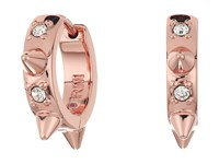Rebecca Minkoff Studded Huggie With Pave Earrings Rose Gold Crystal Earring