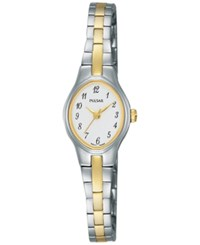 Pulsar Women's Basic Dress Two Tone Stainless Steel Bracelet Watch 17Mm Pc3281