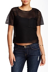 Romeo And Juliet Couture Mesh Blouse Black