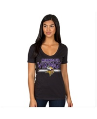 Authentic Nfl Apparel Women's Minnesota Vikings End Zone T Shirt Black