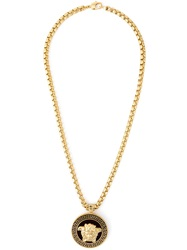 Versace Rounded Medusa Necklace Metallic