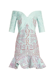 Mary Katrantzou De Bau Jacquard And Glitter Dress