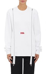 Hood By Air Women's Waffle Knit Long Sleeve Top White