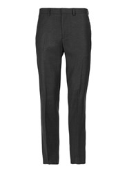 Topman Grey Charcoal Check Slim Fit Trousers