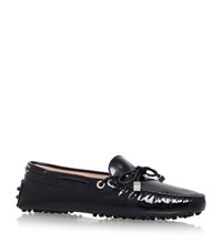 Tod's Patent Scooby Doo Drivers Female Black
