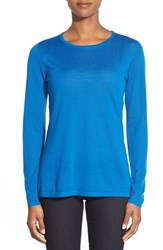 Women's Nordstrom Collection Lightweight Cashmere Crewneck Sweater Blue Water