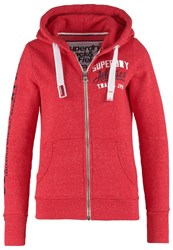 Superdry Track And Field Tracksuit Top Cherry Red Snowy