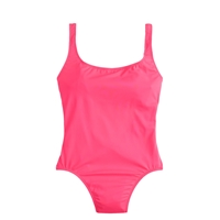 J.Crew Neon Scoopback One Piece Swimsuit Neon Pink