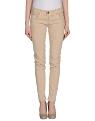 E Go' Sonia De Nisco Denim Pants Beige