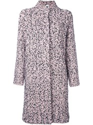 M Missoni Boucle Knit Coat Pink And Purple