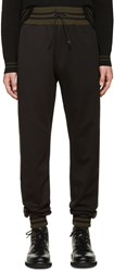 Giuliano Fujiwara Black Striped Lounge Pants