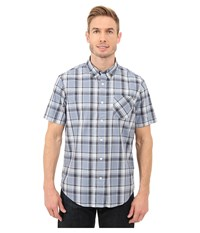 Timberland Allendale River Plaid Poplin Shirt Infinity Yarn Dye Men's Clothing Blue