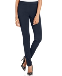 Style And Co. Stretch Seam Front Ponte Leggings Only At Macy's Deep Navy