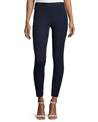 Tory Burch Stretch Twill High Waist Leggings Women's Med Navy