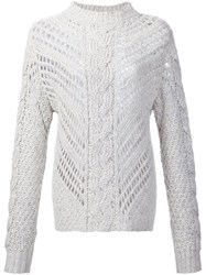 Adam By Adam Lippes Mock Neck Sweater White