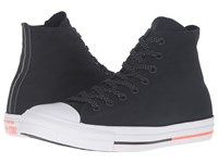 Converse Chuck Taylor All Star Shield Canvas Hi Black White Lava Lace Up Casual Shoes