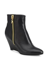 Giuseppe Zanotti Leather Wedge Booties Black