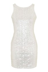 Sequin Shift Dress By Glamorous Petites Clear