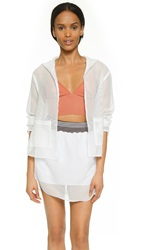 Clover Canyon Square Mesh Hooded Jacket White