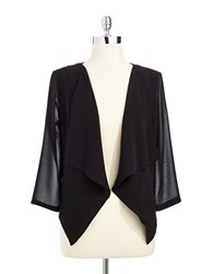 Calvin Klein Three Quarter Sleeved Shrug Black