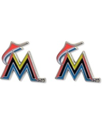Aminco Miami Marlins Logo Post Earrings