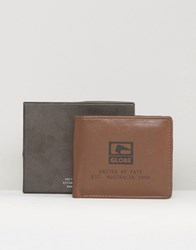 Globe Corroded Wallet Brown