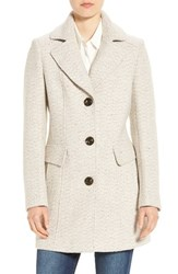 Gallery Women's Notch Collar Tweed Coat